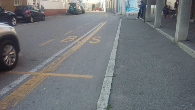 pista ciclabile in via patrioti a Ossona