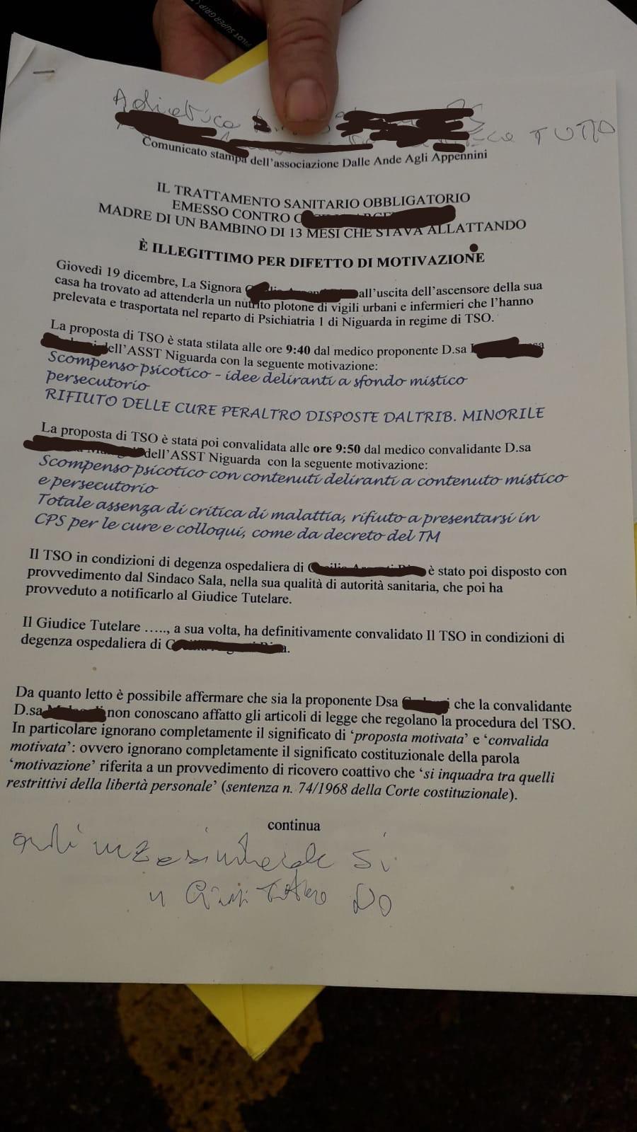 Prima Pagina - Bambini rubati e tso alle madri che si ribellano? Ma cosa succede a Milano? 26/12/2019