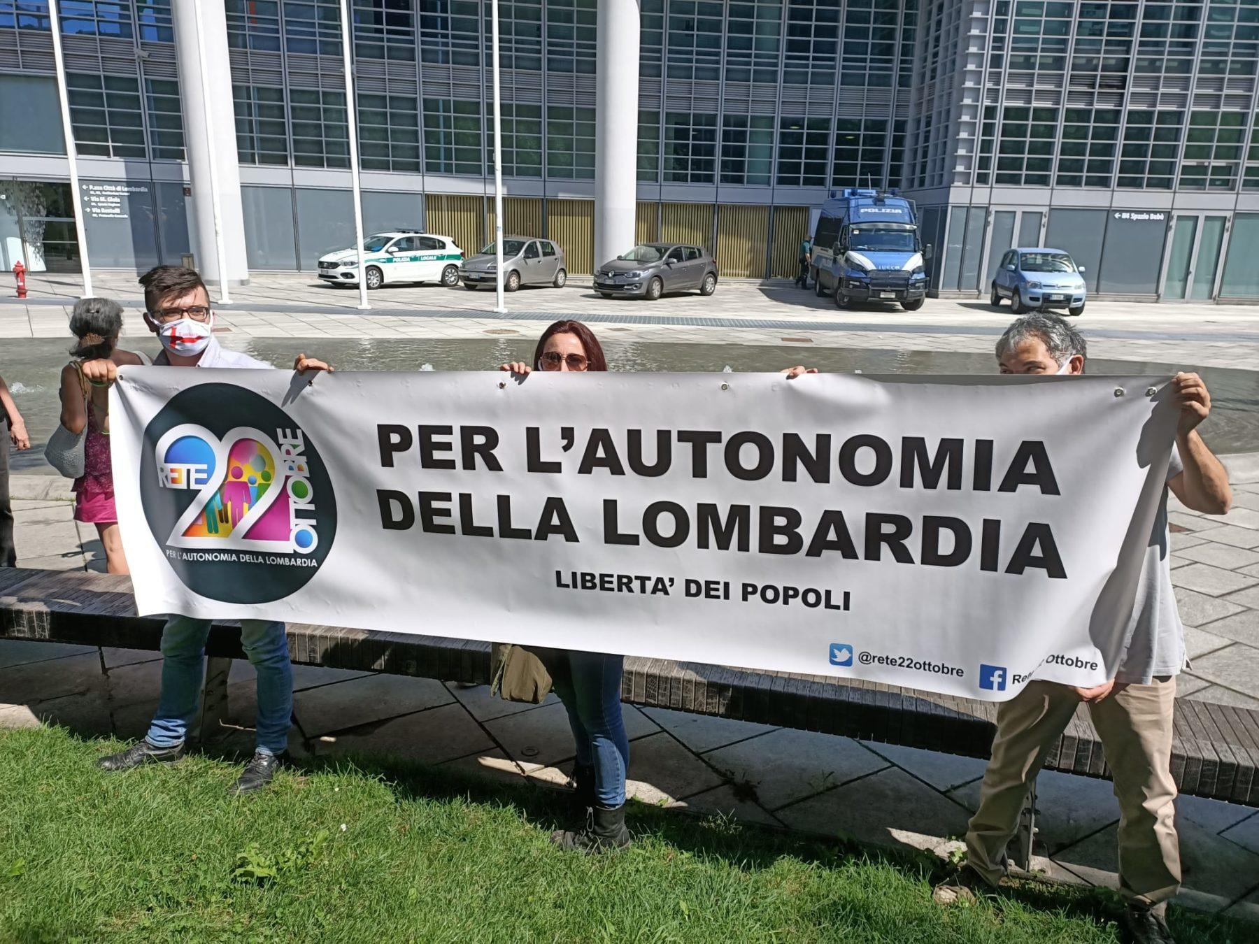 autonomia Politica - I gruppi per l'autonomia delle Regioni in piazza a Milano e a Venezia 19/07/2020