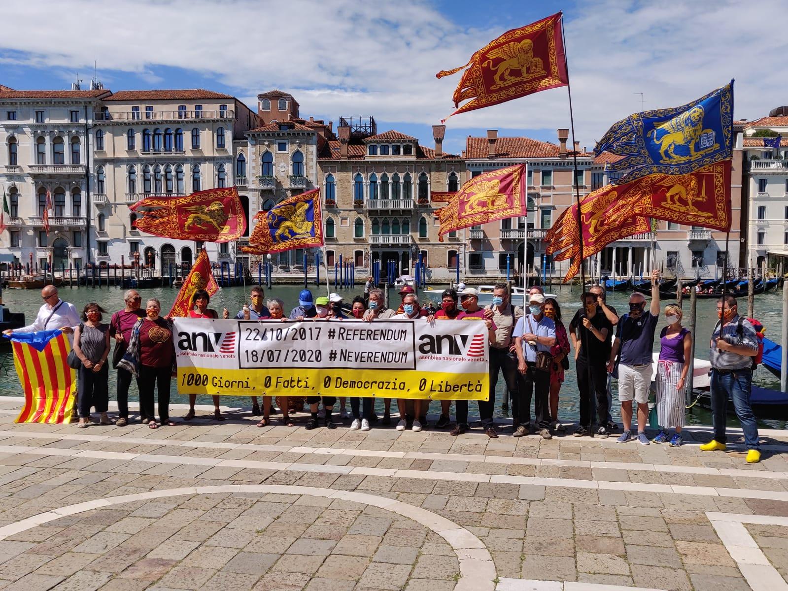 Manifestazione per l'autonomia a Venezia il 18 luglio 2020