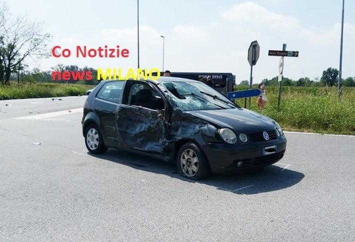 centauro Cisliano - In pericolo di vita un centauro. Scontro auto moto sulla Sp 226, a Cisliano 19/08/2020