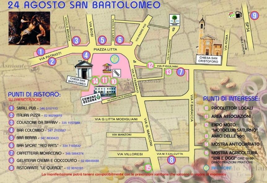Programma della fiera di San Bartolomeno a Ossona nel 2020