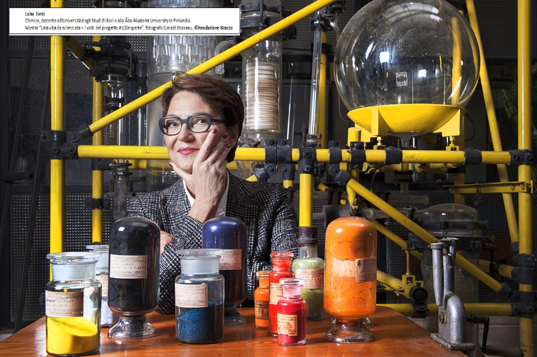 Una vita da Scienziata, mostra su 100 donne che hanno avuto successo nelle scienze. Nella Foto, La chimica e professoressa universitaria dott.ssa Luisa Torsi