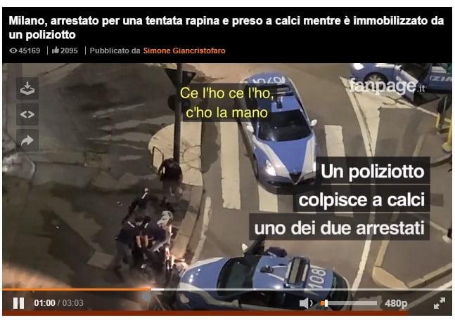 fanpage Milano - Milano. Fanpage pubblica il video di un inseguimento a Milano. Nei guai poliziotti e ladri 23/09/2020