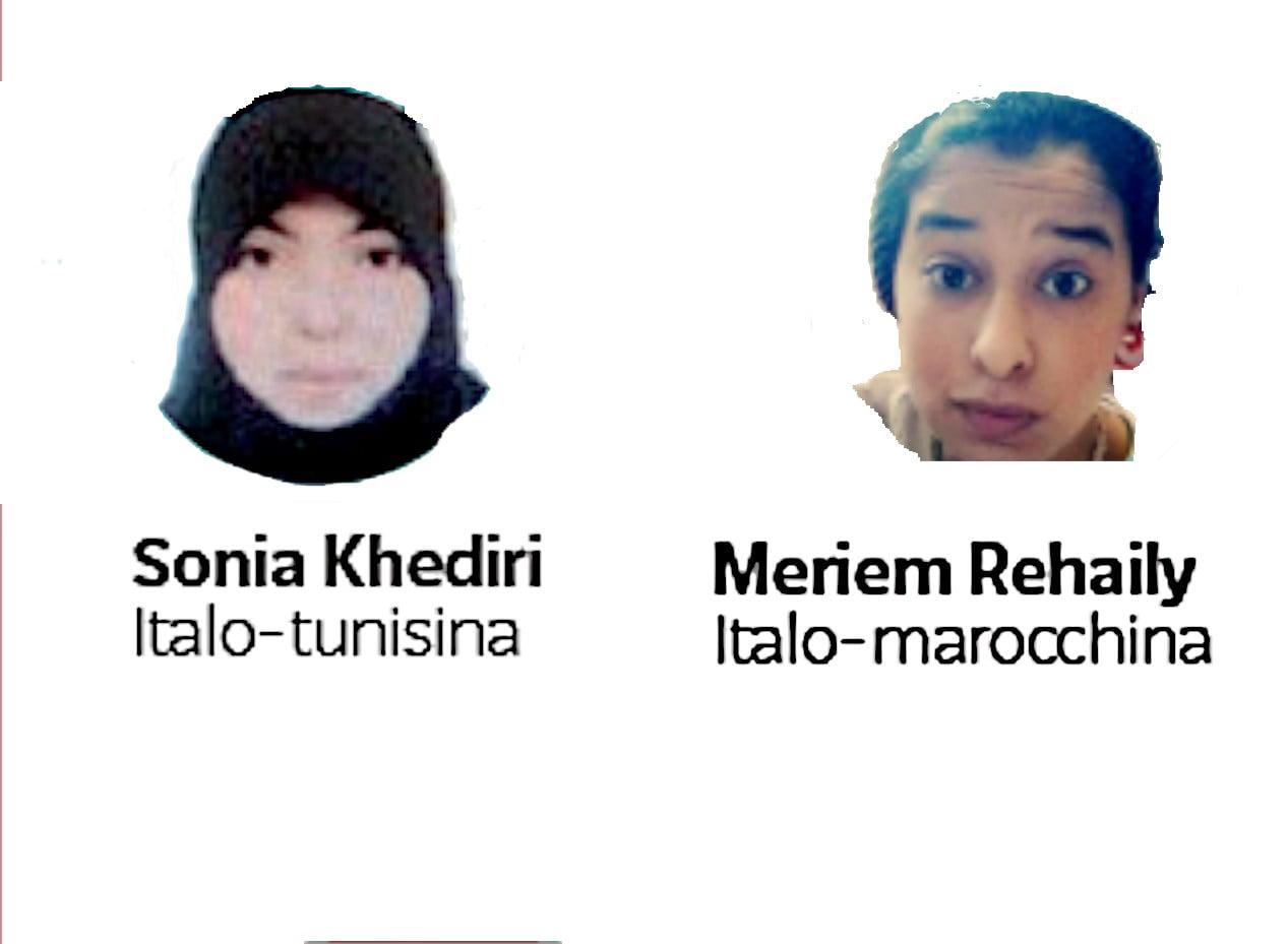 sonia kherìdiri meriem rehaily , forse nel campo di prigionia curdo di Hol Al