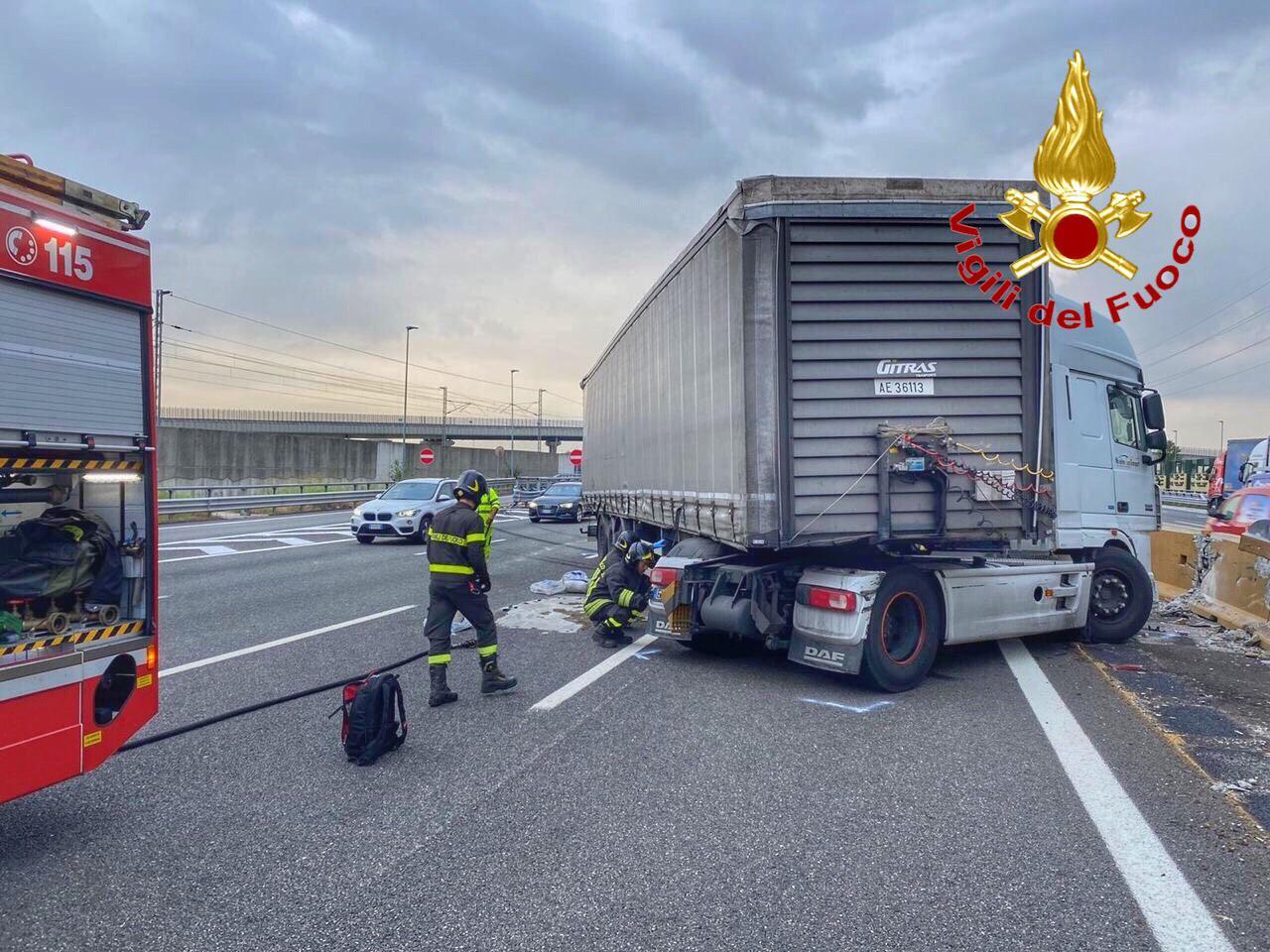 incidente autostrada ad Arluno