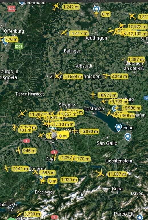 i voli in svizzera a europa centrale