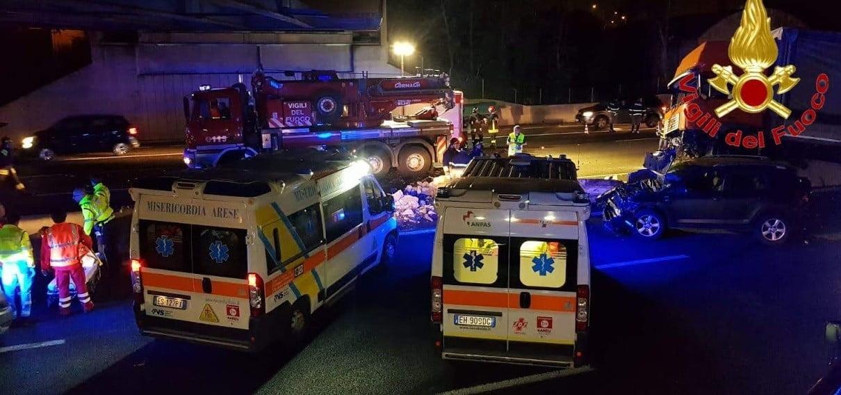 Foto di repertorio, incidente in autostrada