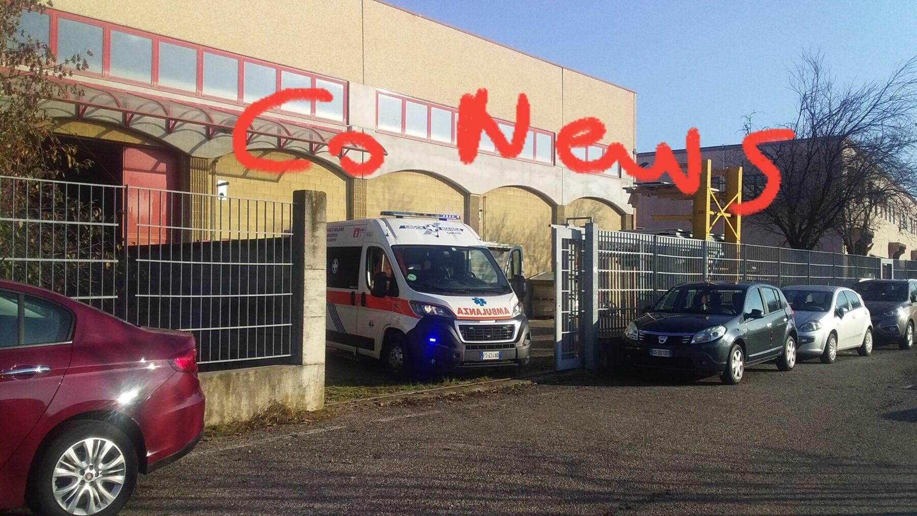 Corbetta - Infortunio nella zona industriale di Corbetta 19/11/2020