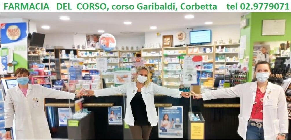 """farmacia del corso Pubbliredazionali - """"Farmacia del Corso"""", Corbetta. Tamponi rapidi: come fare. I prodotti della farmacia 07/03/2021"""