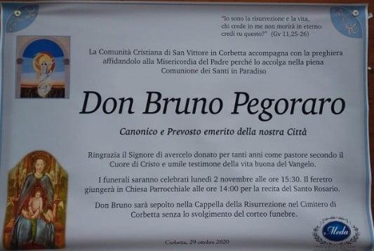 bruno pegoraro Uncategorized - Don Bruno Pegoraro. Tante adesioni al lutto cittadino durante il funerale 02/11/2020