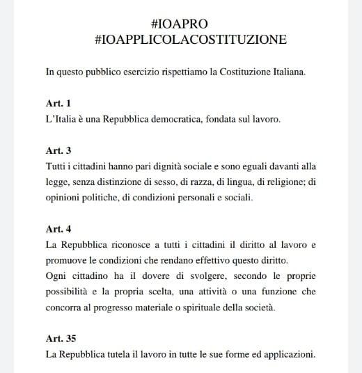appello alla costituzione #ioapro