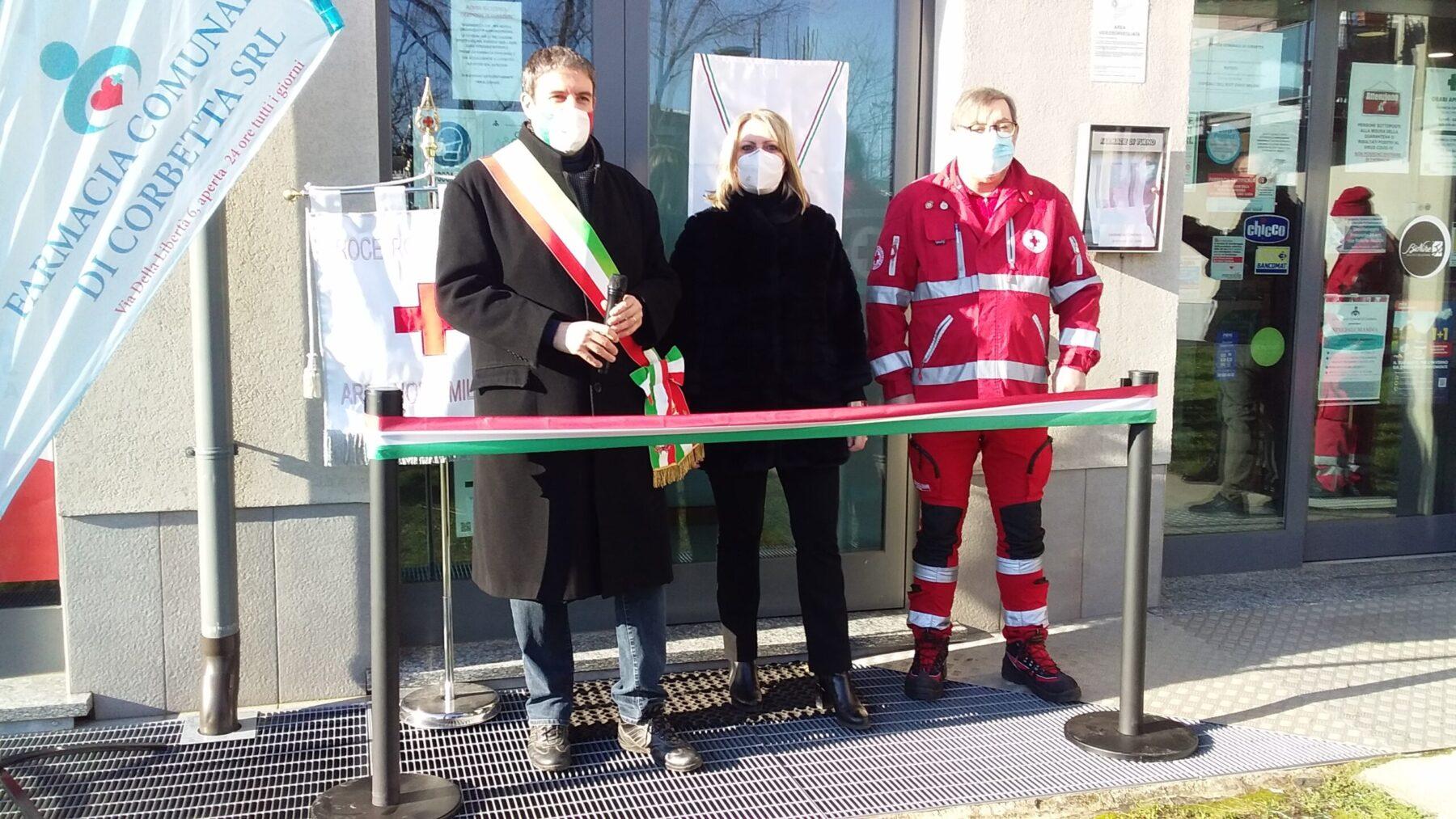 Corbetta - Inaugurato il punto Croce Rossa. Corbetta 15/02/2021