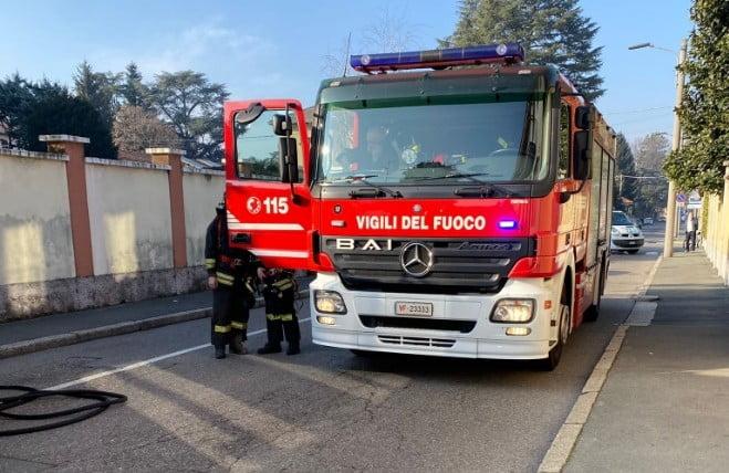 Vigili del fuoco, incendio dei camini