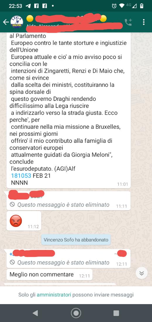 vincenzo Sofo abbandona la Lega
