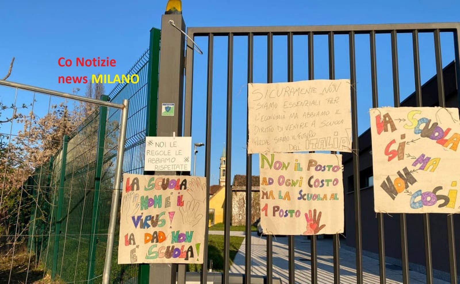 """Corbetta - I genitori de """"La Favorita"""" protestano contro la Dad. Corbetta 10/03/2021"""