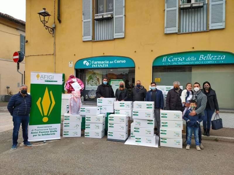 Corbetta - I pacchi solidali pasquali e un pensiero per la Rsa. Corbetta 09/04/2021