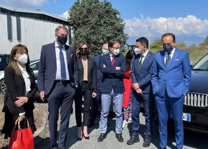 """Andrea cane Piemonte - Andrea Cane (Lega Salvini Piemonte): """"Oggi abbiamo evidenziato il Canavese del presente e del futuro. Lars Calstrom pronto a far rivivere il sogno industriale di Olivetti"""" 23/04/2021"""