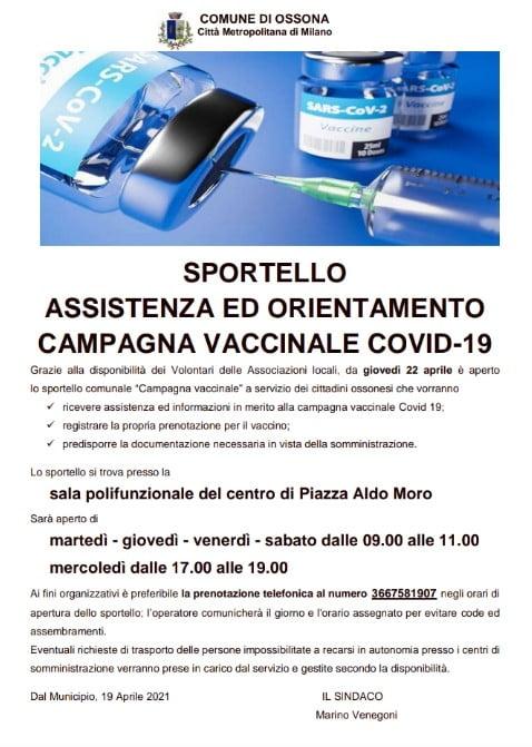 Sportello Vaccini Ossona (Milano)