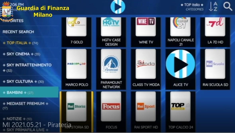 pay tv Prima Pagina - Guardavano la pay tv illegale. 2.922 persone sanzionate (video) 22/05/2021