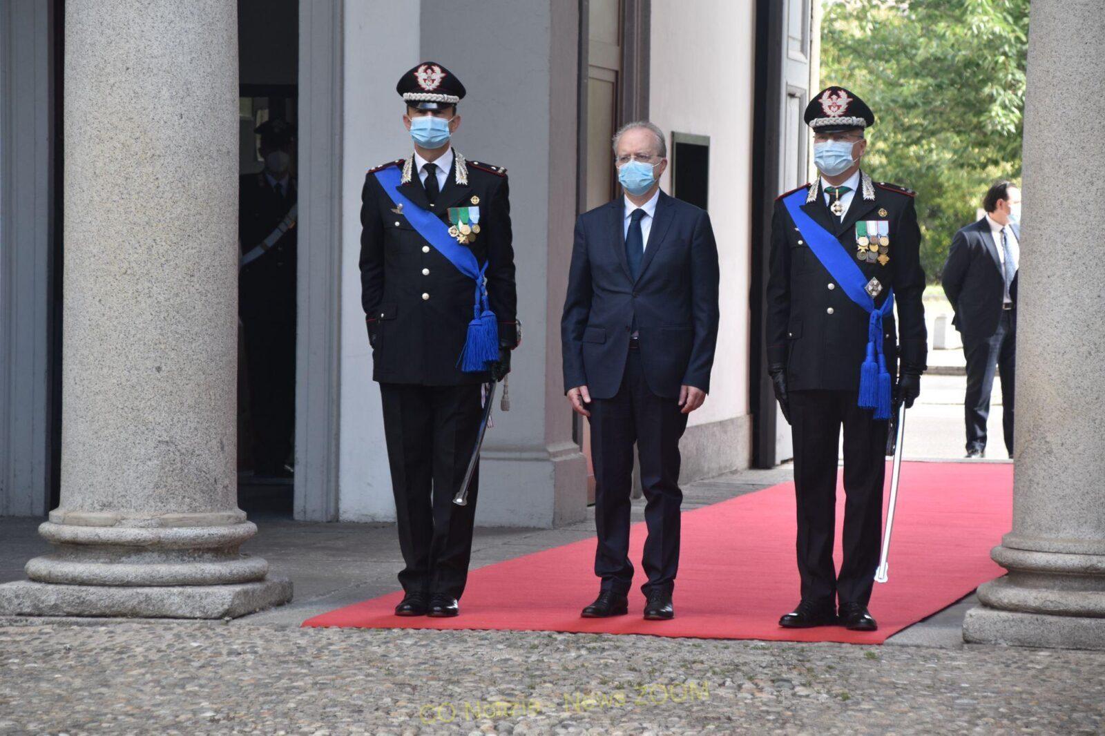 carabinieri Milano - La Festa dei carabinieri. Occasione per fare il punto sulla situazione sicurezza 06/06/2021