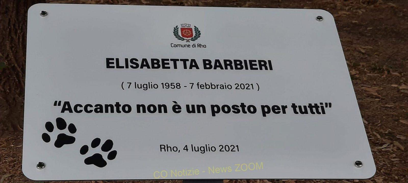 elisabetta barbieri Milano provincia - La città di Rho dedica un giardino alla staffettista Elisabetta Barbieri 05/07/2021